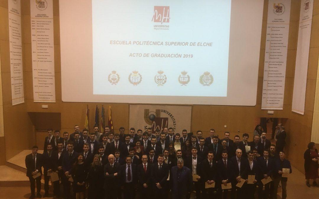El COGITCV en la Graduación de los estudiantes de la Escuela Politécnica Superior de Elche