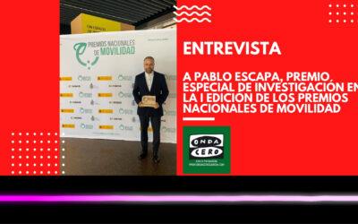 Pablo Escapa presenta en Onda Cero Gandia el Coche COITT galardonado en los Premios Nacionales de Movilidad