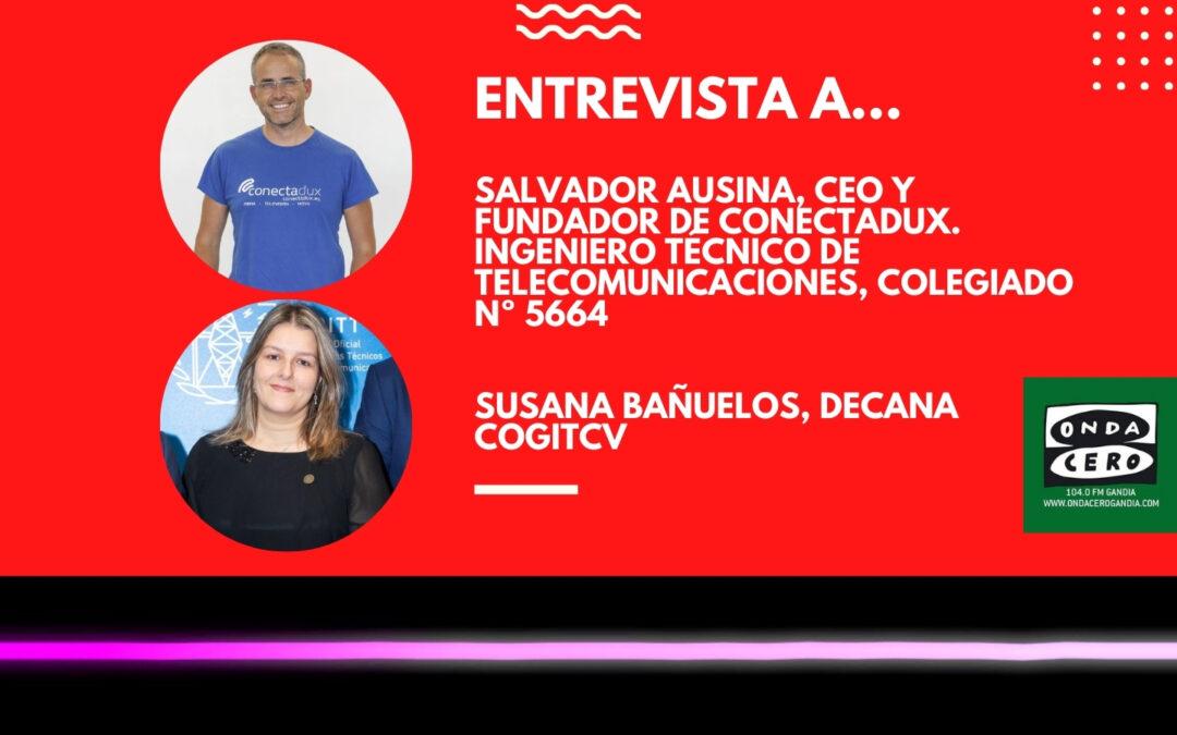 El COGITCV y Conectadux profundizan sobre los 'Premis Enginy' y el #ForoTelecosCV2021 en nuestra sección de Onda Cero Gandia